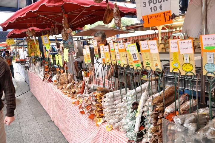 Rouen : Marché place du Vieux