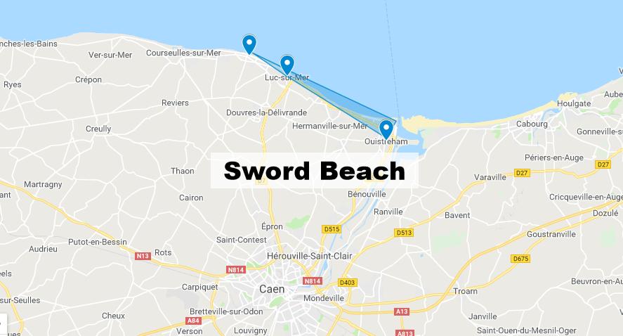 Sword Beach Normandie : Carte