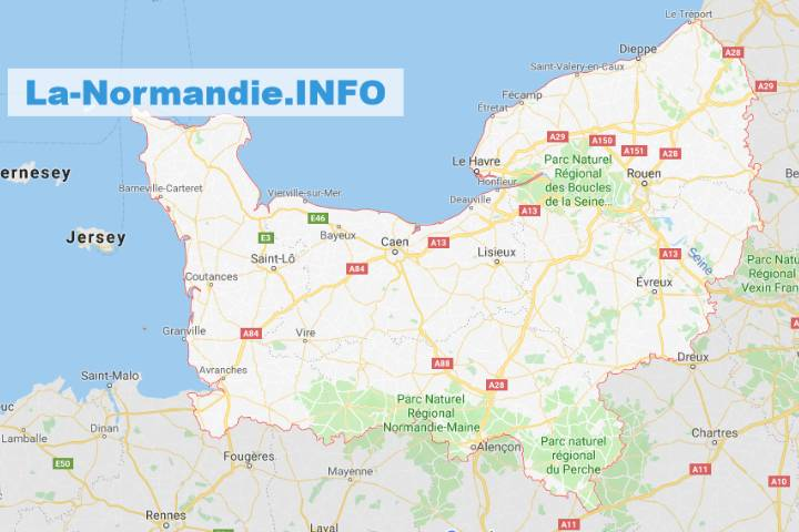 Normandie : Carte