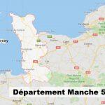 Département Manche : Carte