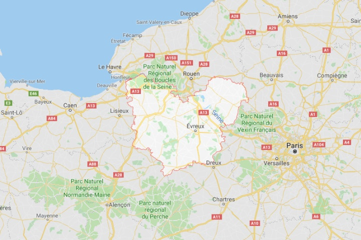 Département Eure : Carte