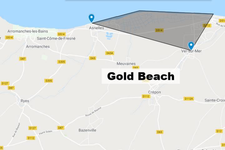 Gold Beach Normandie : Carte