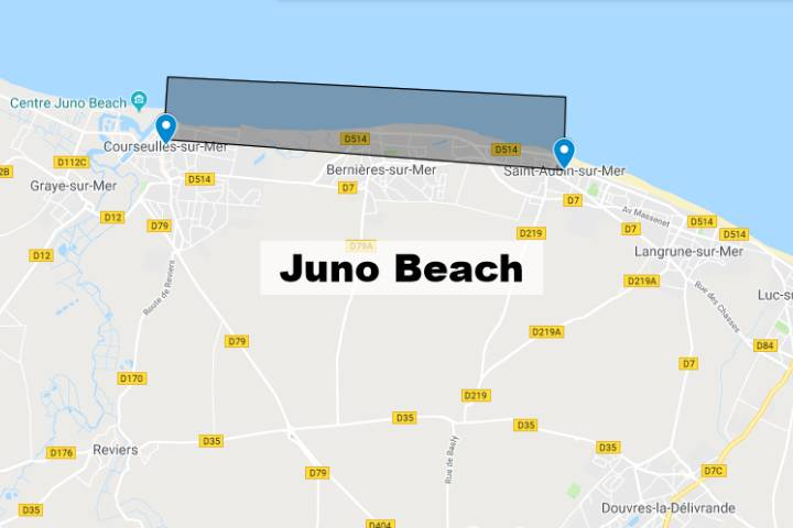 Juno Beach Normandie : Carte