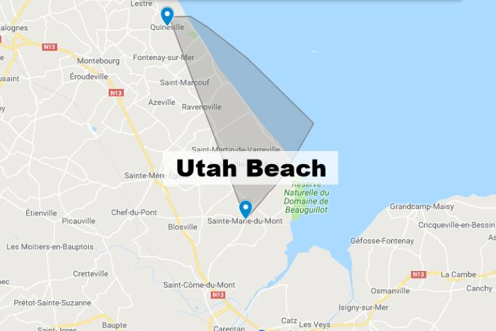 Utah Beach Normandie : Carte
